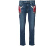 - Skinny-Jeans mit floralen Stickereien - women
