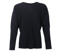 Plissiertes Sweatshirt mit Bischofsärmeln
