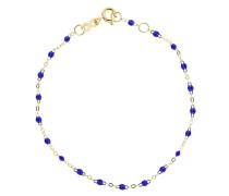 18kt yellow  Classic Gigi lapis beaded bracelet