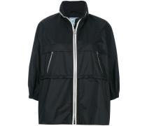 cropped sleeve rain jacket