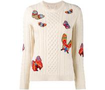 Pullover mit aufgestickten Schmetterlingen