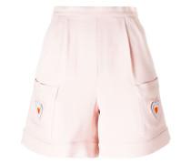 Shorts mit Makramee-Herz