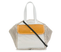 Perforierte Handtasche in Colour-Block-Optik