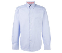 Button-down-Hemd mit feinem Jacquard-Muster