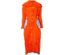 crinkled belted dress