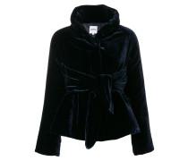 velvet belted jacket