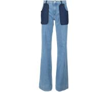 Jeans mit aufgesetzten Taschen - women