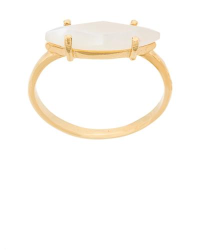 'Technofossils' Ring mit Perlmutt