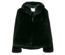 zipped faux fur jacket