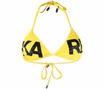 logo-print triangle-cup bikini top
