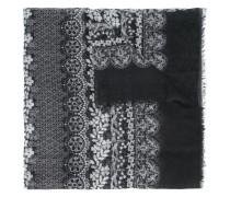 Schal mit Spitzen-Print - women