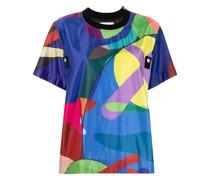 x KAWS T-Shirt mit abstraktem Print