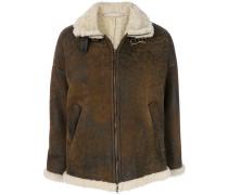 shearling zip up jacket