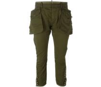 oversized pocket crop trousers - women
