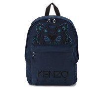 Embroidered Tiger Head Backpack
