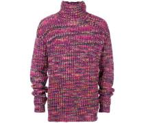 tonal knit turtleneck jumper