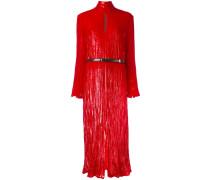Metallic-Kleid mit Stehkragen
