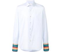 Hemd mit gestreiften Manschetten
