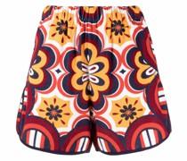 High-Waist-Shorts mit Print
