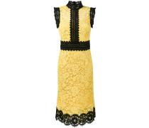 Kleid mit Spitzeneinsatz in Colour-Block-Optik