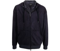logo-detail zip-up hoodie