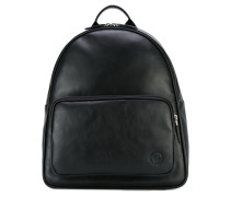 - logo patch backpack - men - Kalbsleder