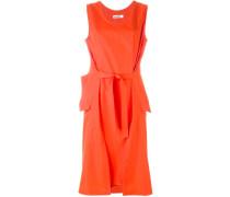 Gegurtetes Kleid mit geraffter Front
