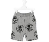 Shorts mit Totenkopf-Print