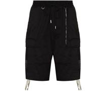 Cargo-Shorts mit Totenkopfstickerei