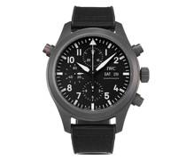 2021 ungetragener Pilot's Watch Double Chronograph Top Gun Ceratanium SIHH 2019 44mm