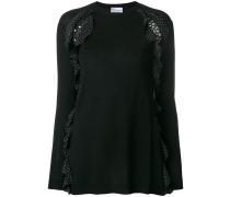 ruffle embellished sweater