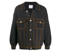 Oversized-Jacke im Jeans-Look