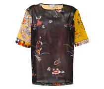 'Stich' T-Shirt aus Seide - women - Baumwolle
