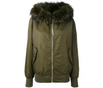 fur collar bomber jacket - women
