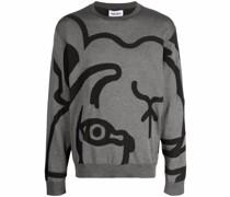 Sweatshirt mit abstraktem Tiger-Print