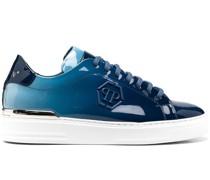 'Hexagon' Sneakers mit Glanzoptik