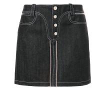 Mini-Jeansrock mit Kontraststickerei