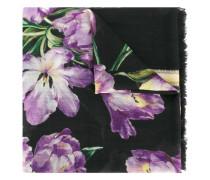 Kaschmirschal mit Tulpen-Print