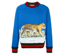 - Sweatshirt mit Tiger-Print - men