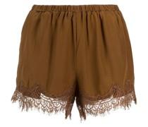 High-Waist-Shorts mit Spitzenbesatz