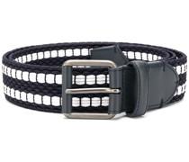 stripe-edge woven belt