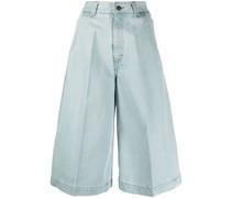Jeans-Shorts mit Falten