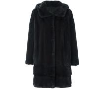 Mantel mit Kapuze aus Nerzpelz