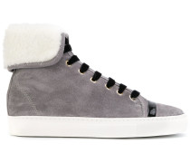 High-Top-Sneakers mit Shearling-Futter