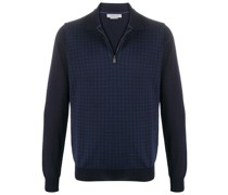 check wool polo shirt