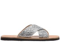 Sandalen mit Glitter-Optik