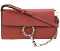 Faye wallet on strap bag