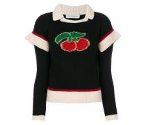 Pullover mit Kirschen-Patch