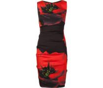 Enganliegendes Kleid mit floralem Print