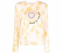 Pullover mit Slogan-Stickerei
